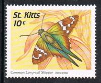 St Kitts SG500 1997 Butterflies 10c unmounted mint